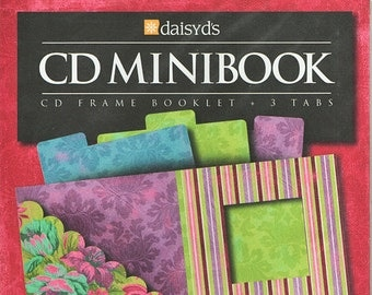 CD Minibook Cd Frame Booklet Scrapbooks Daisy D's  Embellishments Cardmaking Crafts