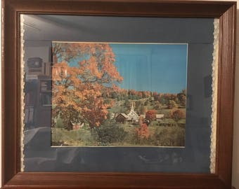 Vintage print Natures Grand Finale Vermont