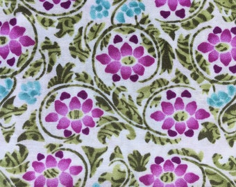 Quilting Cotton Electric Garden by In the Beginning fabrics.  Floral small print.  One yd available.