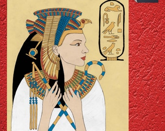 Egyptian coloring book queen Cleopatra