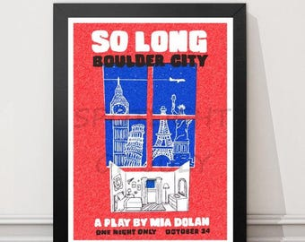 La La Land Poster, Valentines Day, gift for her, gift for her, So long Boulder City, valentines day gift, la la land print, play mia dolan