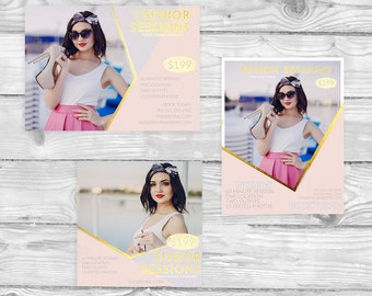 Senior Session Marketing Board Package pink & gold | M16