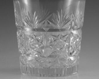 "Thomas WEBB Crystal - SHERATON Cut - Whisky Tumbler Glass / Glasses - 3"""