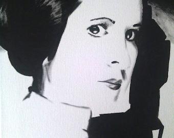 Princess Leia Portrait 16 x 20 acrylic - free shipping