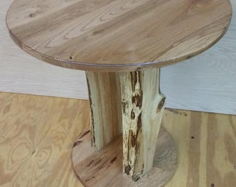 hickory and maple Split post table     *free shipping*