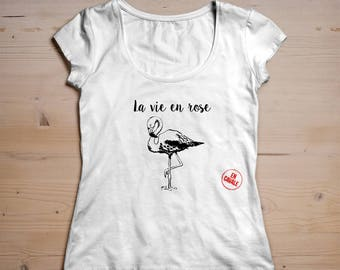 "Woman on the run T-shirt - ""La vie en Rose"""