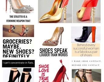 Shoe Love 2017 Calendar - Shoe love is true love, gift for her