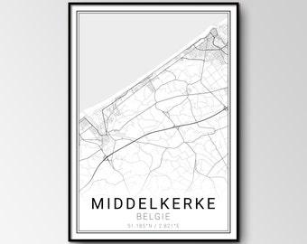 Middelkerke city map