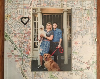 Personalized Map Frame - Non-embroidered