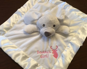Custom Embroidered Baby Soft Baby Security Blanket