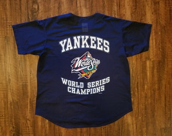 Vintage New York Yankees 1998 World Series Champs Mesh Jersey by TRUE FAN
