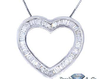Diamond Women's Fancy Heart Penadant/Chain