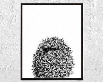 Hedgehog Print, Baby Gift, Art Print Hedgehog, Woodland Animal, Nursery Wall Art, Nursery Art, Nursery Animal, Hedgehog Decor,nursery animal