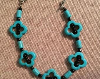 Turquoise Dark Clover Bracelet