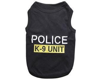 Police Dog T-Shirt, Dog Clothes, Pet Shirts