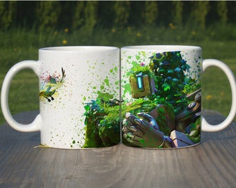 Bastion Mug, Color Changing Mug, Watercolor Coffee Mug,Overwatch Coffee Cup, Overwatch Bastion, M113