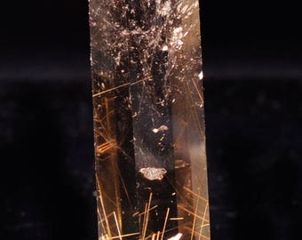 Best  Gold Rutilated Smoky Quartz Crystal Tower Point/Energy Crystal Quartz(Size:55*19*13mm,26g)