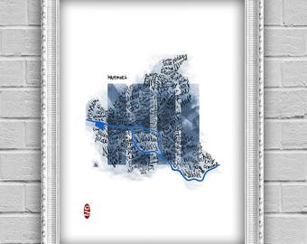 Hamburg - artistic city map