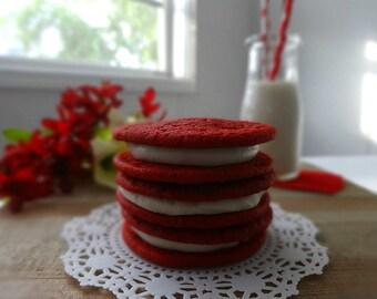 July 4th Red Velvet Cream Pie Cookie - 4th of July Cookies