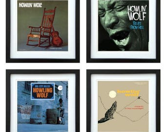Howlin' Wolf - Framed Album Art - Set of 4 Images