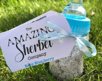Blue Baby Shower Sherbet Bottle