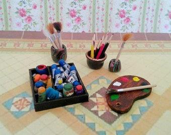 Tavolozza in miniatura etsy for Arredamento in miniatura
