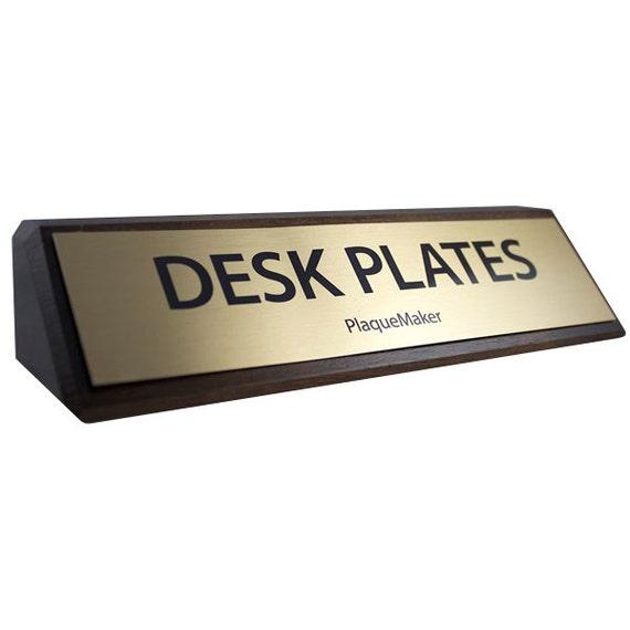 Desk name plates walnut wood