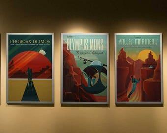 NASA ExoPlanet Travel Poster, Set of 3,  Space Travel Poster, NASA Space Poster, Nasa ExoPlanet Travel Poster, Space Art, Nasa Art