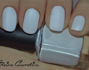 Fulton St Frost - Shimmer White Matte Nail Polish