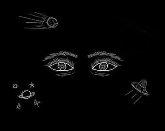 Spacey (Digital Art Print)