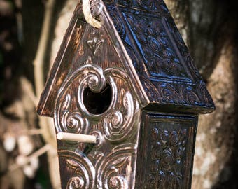 Shiny Bronze Birdhouse