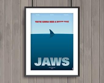 JAWS, minimalist movie poster