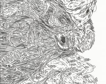 Lion Roar Coloring Page