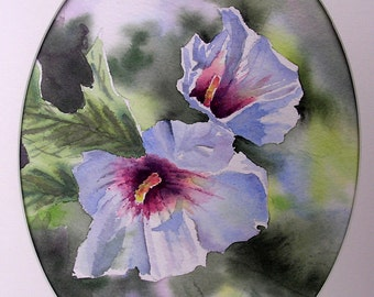 Original watercolor, painting of flowers