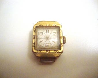 Watch Ray Vintage Soviet  mechanical does not work without hands gold plated 1970s Soviet era