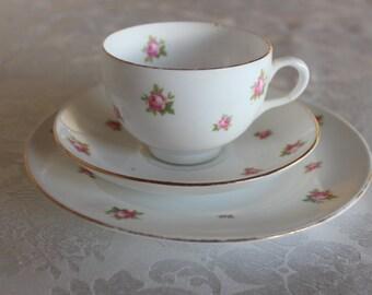 Crown Staffordshire Tea Set Rose English China