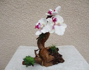 Floral on wood