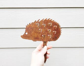 Garden Decor - Metal Garden Hedgehog - Garden Art - Yard Decor - Metal Garden Decor - Metal Animal