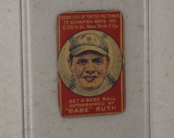 1921 Scapira Brothers Babe Ruth in Screwdown Case
