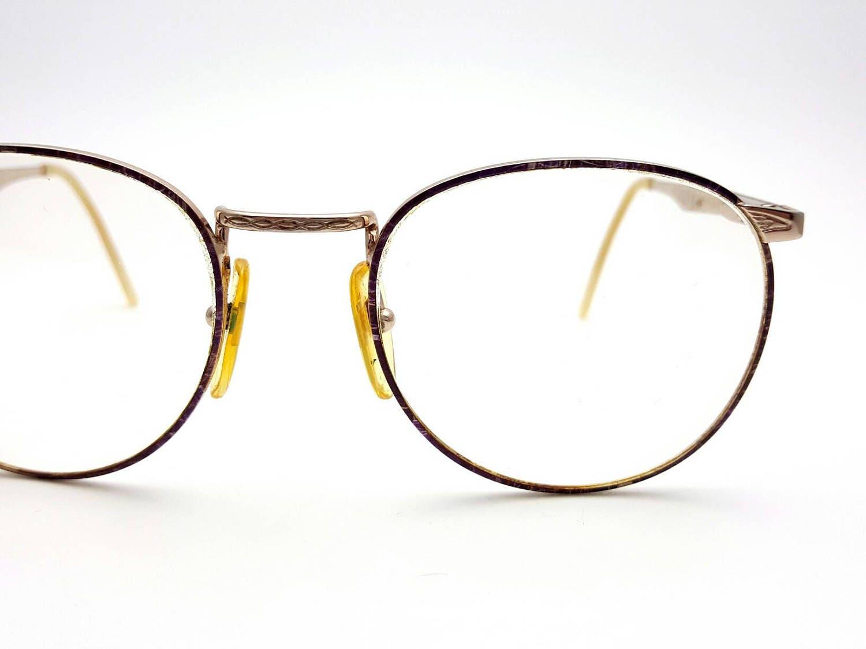 Nazareno Corsini Purple and Silver Italy Eyeglasses Metal Vintage ...