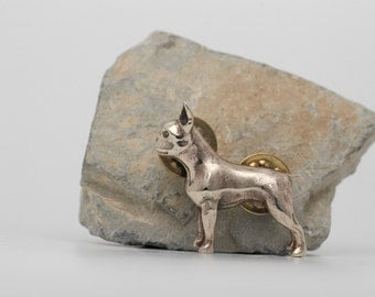 Vakkancs Boston Terrier pin (solid bronze)