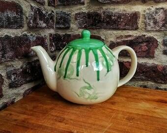 Bright Green Bug Teapot