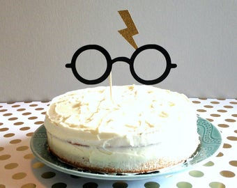 Harry Potter inspirado Topper de la torta, la torta fiesta de asistente, asistente Party Supplies, suministros fiesta de Harry Potter