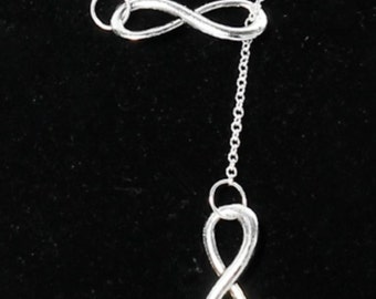 Hot New style infinite-love antique silver pendant necklace