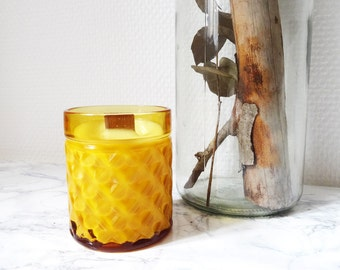 "Natural 100% Soy Candle & GMO - Limited Edition ""Yellow Time"" 200ml - Organic Candle - candle vegan"
