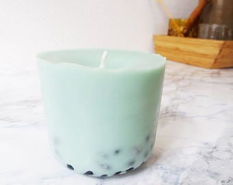 Scented candle Lavender & Peppermint 150 ml, organic candle, candle soy, organic essential oil, organic candle, gifts for her