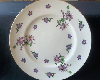 Royal Victoria China Plate: Springtime Pattern