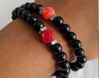 Rose+Beads Bracelets