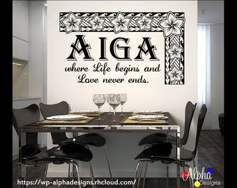 Wall Decal - Samoa AIGA: Life begins & Love never ends