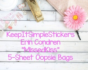 Missed Kiss Erin Condren Planner Stickers